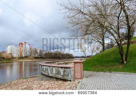 Embankment Of Zapadnaya Dvina In Spring, Vitebsk