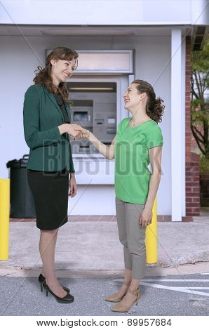 Business Women Handshake