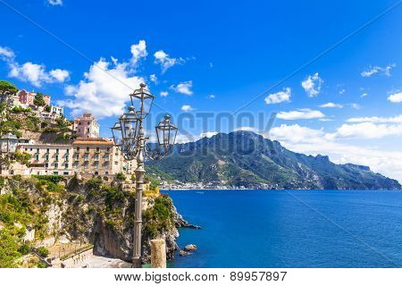 scenic Amalfi coast. Italian holidays