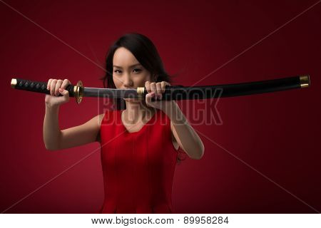 Woman With Katana Sword