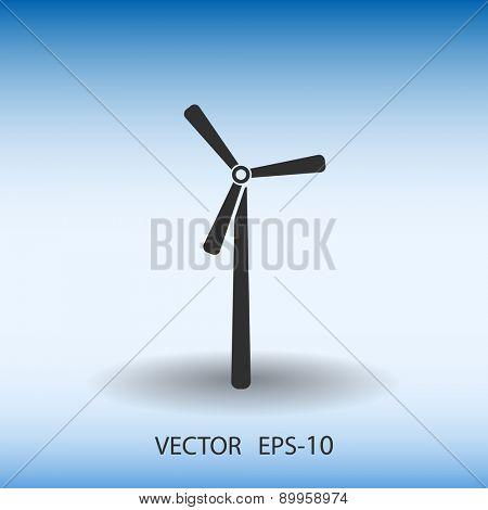 Flat  windmill icon