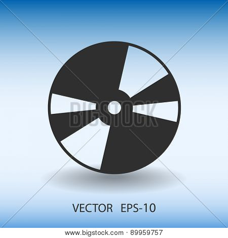 Flat  icon of  disc