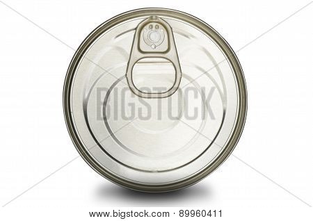 can lid on a white background