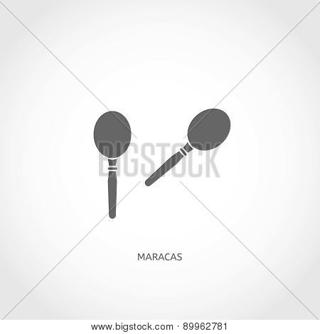 Musical instrument maracas flat icon