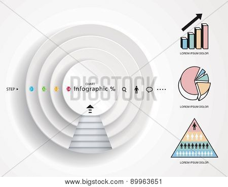 Infographics graphic, step presentations diagram, chart graphic.