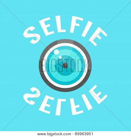 concept of selfie with lense