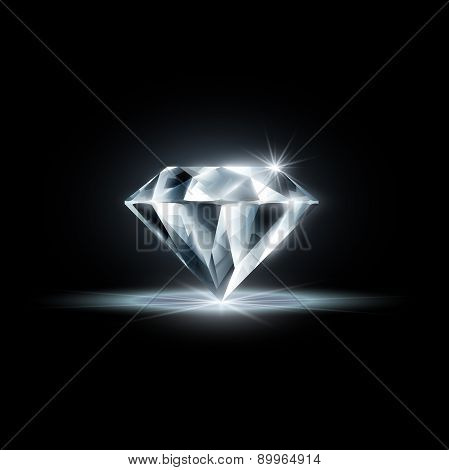 Diamond. Vector Image.