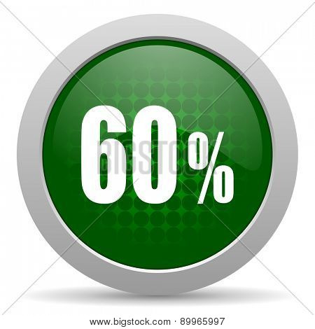 60 percent icon sale sign