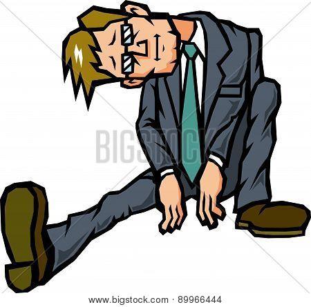 No motivation businessman