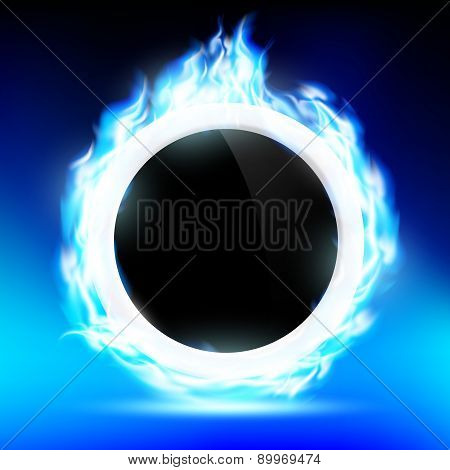 The Ring Burns Blue Flame