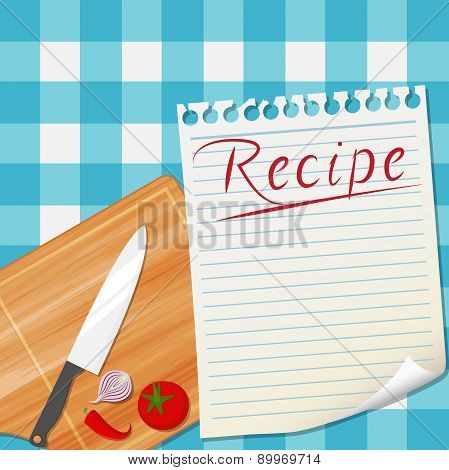 Kitchen recipe design background
