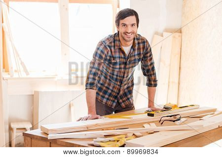 Smiling Woodworker.
