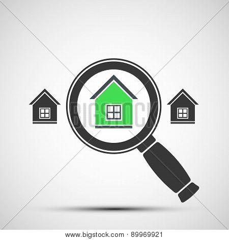Vector Image Of A Magnifying Glass