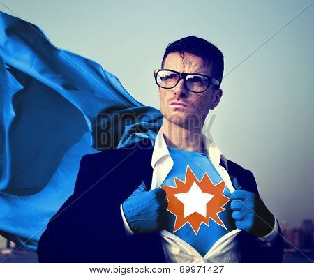 Star Strong Superhero Success Professional Empowerment Stock Concept