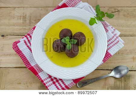 Gulab jamun with red linen