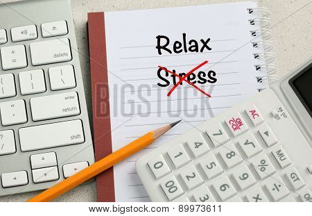 relax concept with no stress