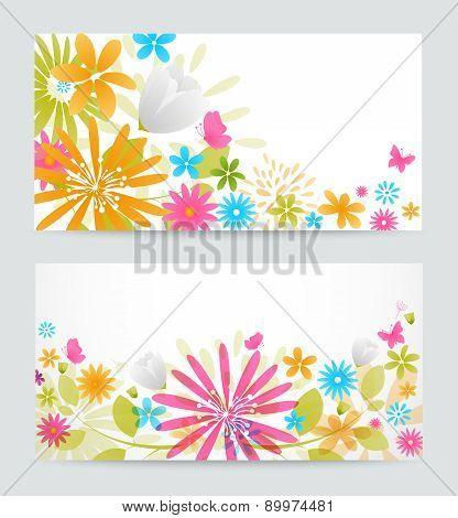 Fresh floral banner