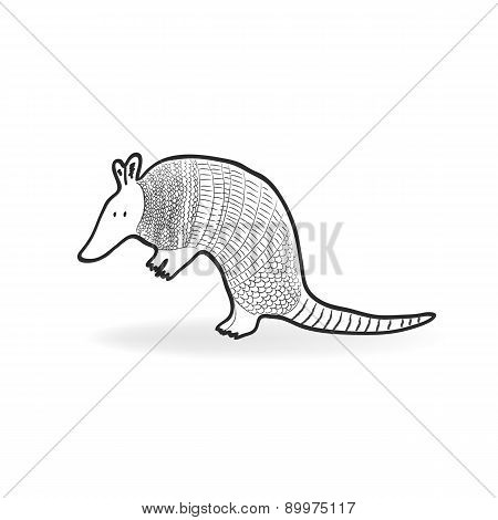 Isolated Armadillo Vector Illustration