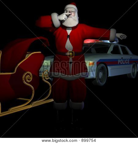 Santa - Pulled Over