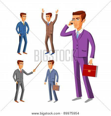 Businessman Wearing Suits. Vector, Business, Businessman, Male, Illustration, Suit,