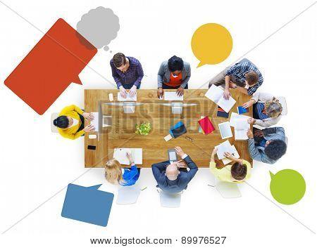 Diversity Study Group Brainstorming Meeting Teamwork Concept