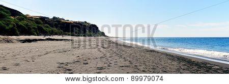 Beach Below Green Cliff