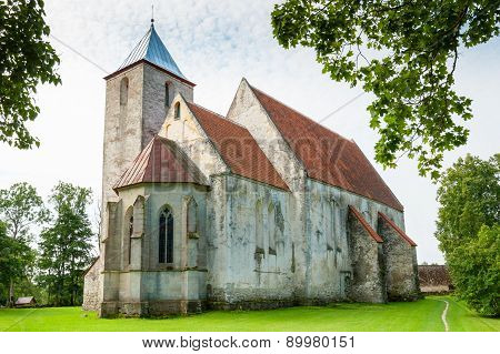 Church In Valjala. Saaremaa Island, Estonia