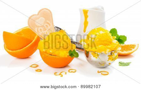 Ice Cream And Orange