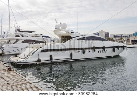 Modern Yacht Moored On The Pier
