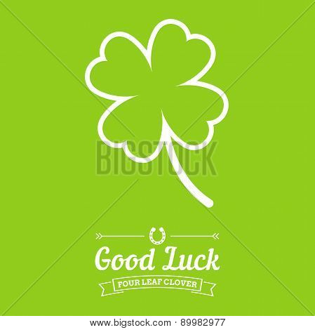 Four Leaf Clover Background With Text Badges