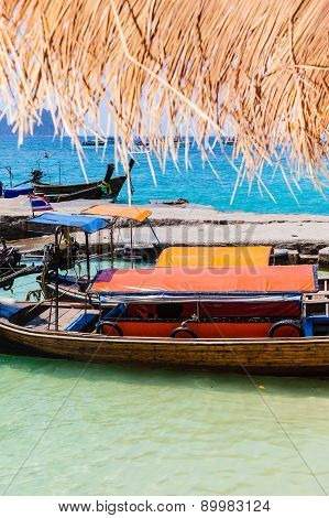 Colorful Longtail Boats