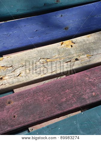 Dirty Wooden seat