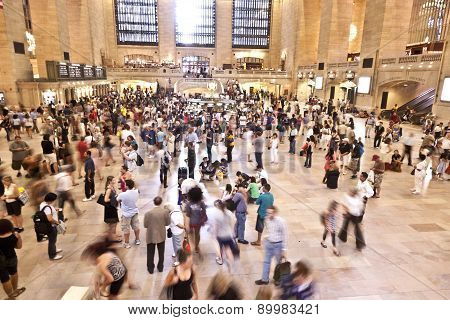 Passengers In Grand Central Station, New York