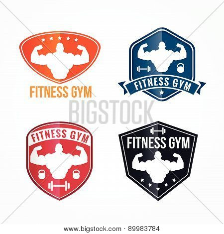 Bodybuilding and Elegant fitness gym  Vector logos graphics