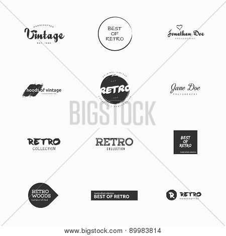 Minimal vintage and retro vector logo illustrations.