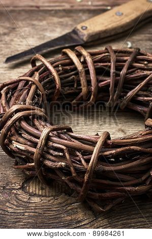 Licorice Rolled In Coil On Wooden Background