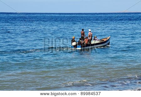 Boat With Fishermen