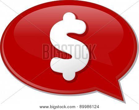 Word speech bubble illustration of discussion forum blog dollar money cash