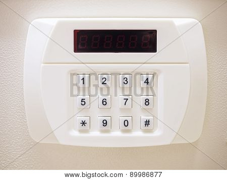 Safe Box with security cade button, Electronic Lock System