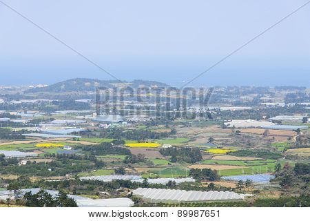 Landscape View From The Top Of Jeoji Oreum