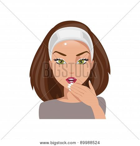 Woman Mistaken. Vector Illustration