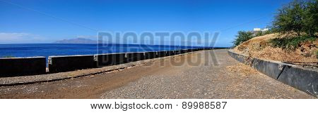 Guard Rail Over Ocean