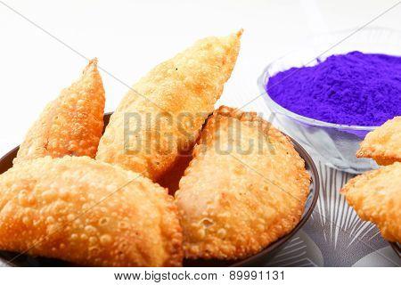 Holi Color With Gujiya