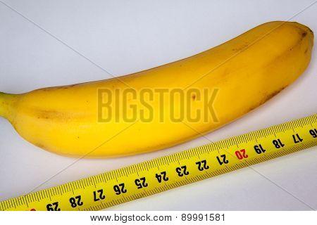 Banana With A Ruler