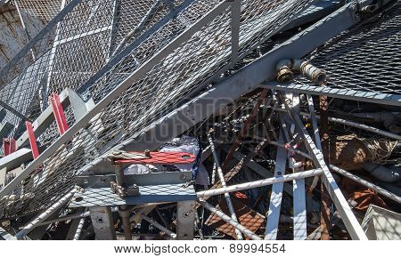 Iron Grid And Ferrous Material In The Landfill
