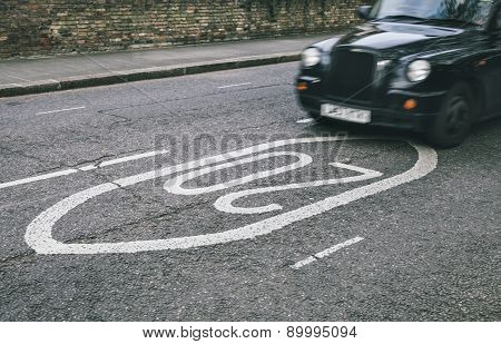 Black Cab In The Streets Of London