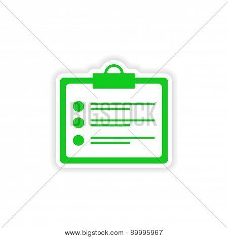 icon sticker realistic design on paper form