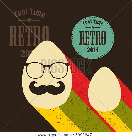 Easter eggs in retro style.