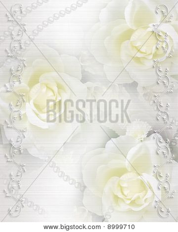 Wedding invitation background roses Stock photo