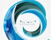 pic of slogan  - Vector blue swirl line abstract background - JPG
